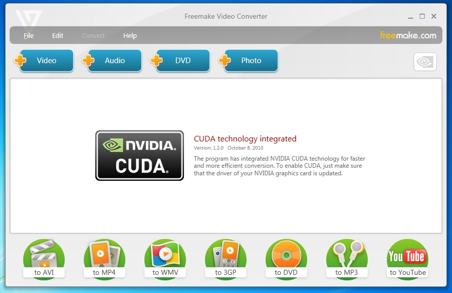 Download Freemake Video Converter 1.2.0